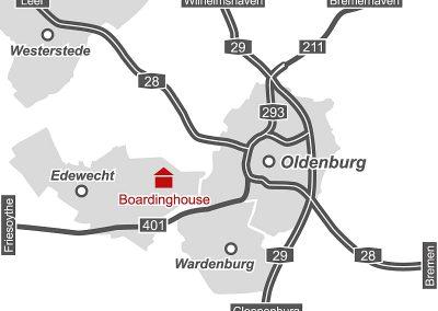 Boardinghouse Kowalski Anfahrtskizze • Maps Germany